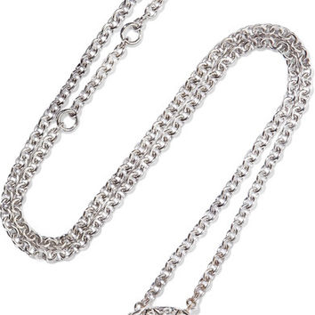 Pomellato - Nudo Solitaire 18-karat white and rose gold diamond necklace