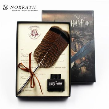 Harry Potter Vintage Feather Fountain Pen Luxury Gift Box Quill Ink Pen Signature Pen Child's Gifts Stationery Set