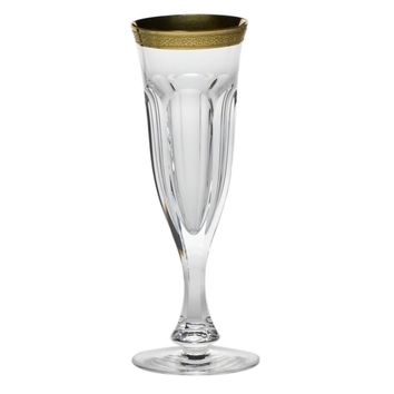 Lady Hamilton Gold Crystal Champagne Flute