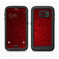 The Dark Red Spiral Pattern V23 Full Body Samsung Galaxy S6 LifeProof Fre Case Skin Kit