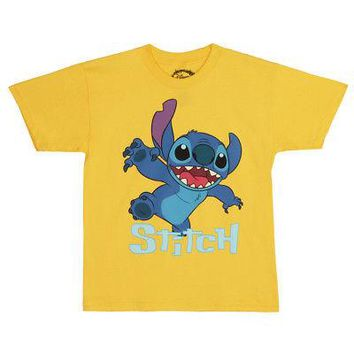 Lilo & Stitch Stitch Coming At Ya Disney Licensed Kid's Youth T-Shirt - Yellow