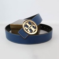 Tory Burch Woman Men Fashion Smooth Buckle Belt Leather Belt-4