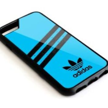 Hot Stripe Blue Adidas Print On For iPhone 7 7+ 8 8+ Cover Protect Case