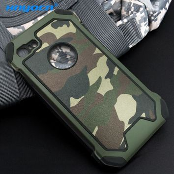 Xnyocn Phone Case for iPhone 8 8Plus 7 7Plus 2in1 Armor Hybrid Plastic+TPU Army Camo Camouflage Back cover for iPhone8 8 Plus