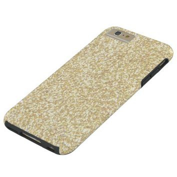 Cool Light Gold Glitter Tough iPhone 6 Plus Case