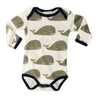 3-6 MTHS Zebi Baby One Piece Grey Whale