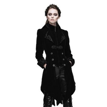 Steampunk Swallow Tail Coat Gothic Women's Jackets Long Dust Coat
