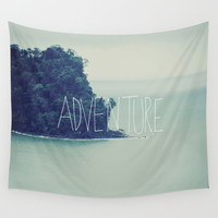Adventure Island Wall Tapestry by Leah Flores