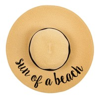 Sun Of A Beach Floppy Straw Hat