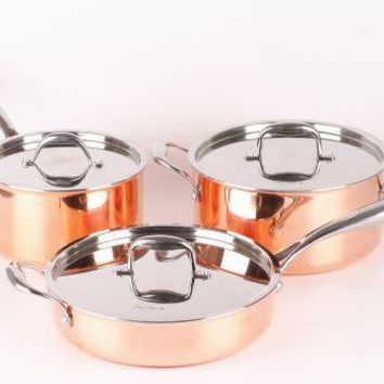 High Quality 6pcs Copper Cookware Set