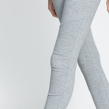 ELASTIC BIKER STYLE VELOUR LEGGINGS - Leggings - Trousers - Woman | ZARA United States