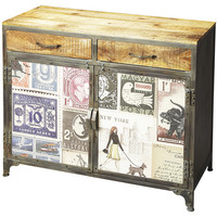World Traveler Console Cabinet