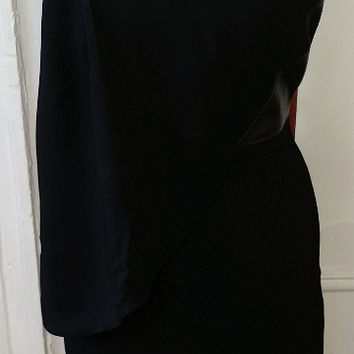 Alexander Wang Lbd (Little Black Dress) With Leather Detail