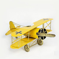 2016 Vintage Model Airplane Figurines Handmade Iron Crafts  Toy Vintage Christmas Creative Boy Gift  Children Toy Miniatures
