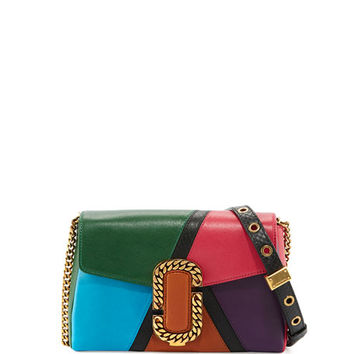 Marc Jacobs St. Marc Colorblock Clutch Bag, Green/Multi