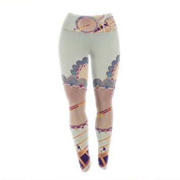 "Susannah Tucker ""Sweet Summer Days"" Carnival Yoga Leggings"