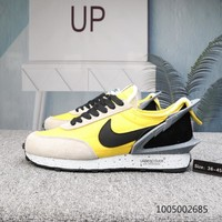 DCCK2 N539 UNDERCOVER x Nike Waffle Racer Sports Casual Shoes Black Yellow