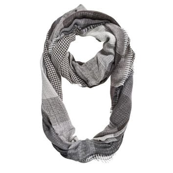 Black Spencer Plaid Infinity Scarf