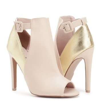Golden Heel Bootie - Sale | Sexy Clothes Womens Sexy Dresses Sexy Clubwear Sexy Swimwear | Flirt Catalog
