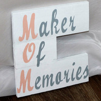 Mother's Day Gift Maker Of Memories Wood Sign Mom Handmade Hand Painted Rustic Mother's Day Gift Idea For Mom