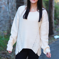 Zip Me Up Sweater {Cream}