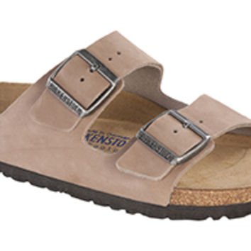 Arizona Soft Footbed Caribou Nubuck Sandals | Birkenstock USA Official Site