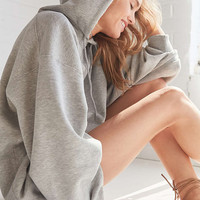 Silence + Noise Shirred Sleeve Hoodie Sweatshirt Dress - Urban Outfitters