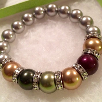 Surrounded by Love: Personalized Swarovski Pearl Mother's Bracelet by Tickle Bug Jewelry!