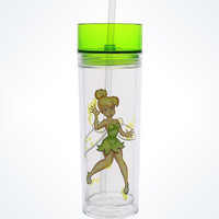 Disney Parks Tinker Bell In A Bottle Tumbler With Straw New