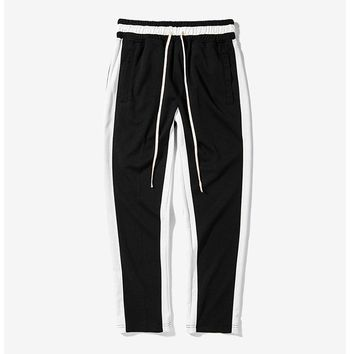 Aolamegs Men side stripe w drawstring track pant