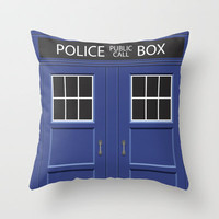 Tardis - Doctor Who Throw Pillow by Alex Patterson | Society6