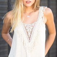 Tropicali Crochet Front Tank Top