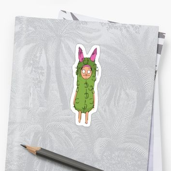 'Louise Belcher in a pickle' Sticker by Hope Elizabeth