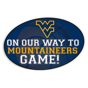 West Virginia Mountaineers Jumbo Game-Day Magnet (Wvu Team)