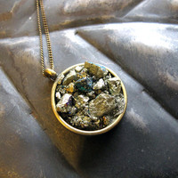 Peacock Ore (Chalcopyrite) Circle Necklace