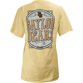 Baylor University Women's Slim Fit V-Neck Seersucker Short Sleeve T-Shirt | Baylor University