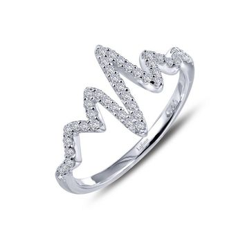 Lafonn Heartbeat Style Simulated Diamond Ring