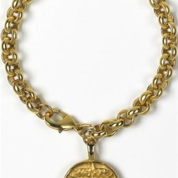 Etruscan Janus Double-Headed Unisex Bracelet Gold or Silver Plated - 7883X