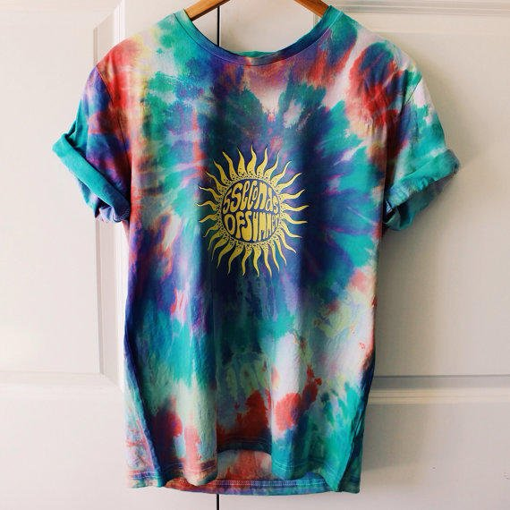Tie Dye 5sos Sun Tee From Shopmishadesigns On Etsy