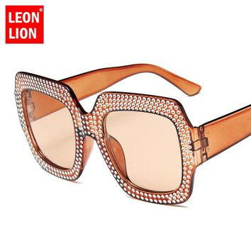 LeonLion 2018 Large Frame Sunglasses Women Luxury Man/Women Sun Glasses Classic Vintage Outdoor Shopping Punk Oculos De Sol