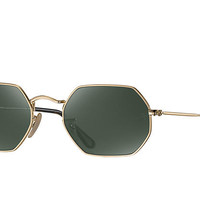 Ray-Ban OCTAGONAL FLAT LENSES Gold, Metal Classic G-15 RB3556N | Ray-Ban® USA