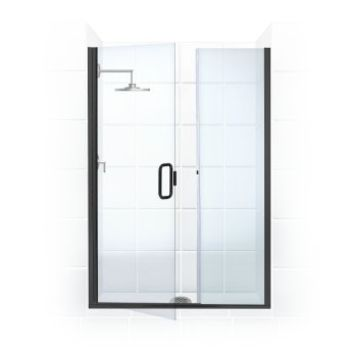 Illusion Series 48 in. x 70 in. Frameless Hinge Swing Shower Door with Inline...