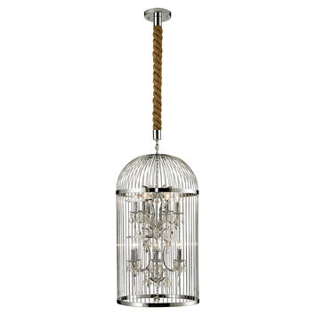 Birdcage 12-Light Chandelier, Silver, Ceiling Chandeliers
