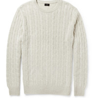 PRODUCT - J.Crew - Cable-Knit Cashmere Sweater - 398020   MR PORTER