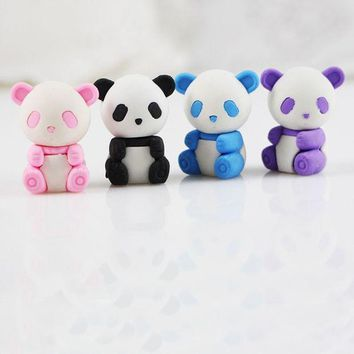ICIK272 1 X Cute cartoon panda eraser Kawaii stationery school office supplies correction supplies child's toy gifts