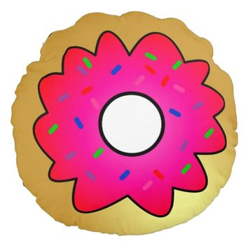 Cute Doughnut with Pink Frosting and Sprinkles