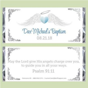 Angel Boy Baptism Candy Bar Wrappers
