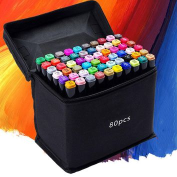 24/30/40/60/80 Colors Sketch Copic Markers Pen Alcohol Based Pen Marker Set Best For Drawing Manga Design Art Supplies School