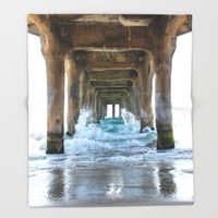CALIFORNIA Throw Blanket by Oksana Smith