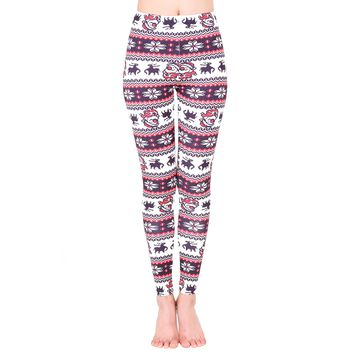 Christmas Print Fitness Leggings
